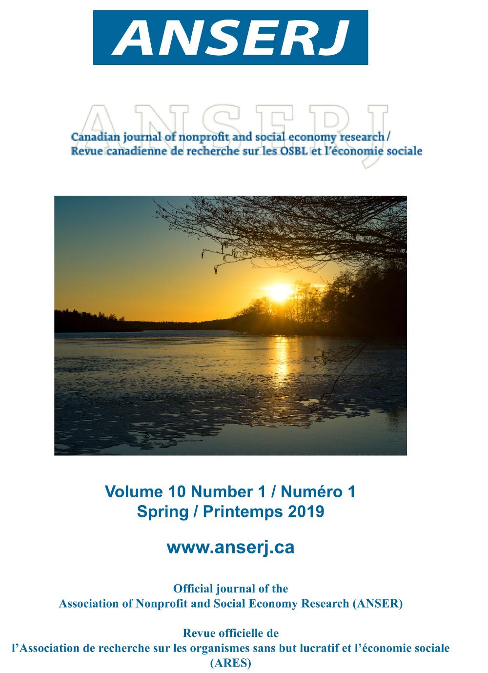 View Vol. 10 No. 1 (2019): Stability Amidst Change / La stabilité face au changement